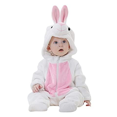 HLHN Kapuzenpullover Pullover Sweatshirts Baby Mädchen Kinder Junge Herbst Jacke Hooded Kapuzen (92 / 18-24 Monate, Weiß (Hood 26 Bogen)