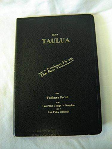 Tongan - English Bilingual NRSV New Testament - Burgundy Cover with Golden Edges / Ko e Taulua: Ko e Fuakava Fo'ou / Dictionary Ko E Ngaahi Huluhulu