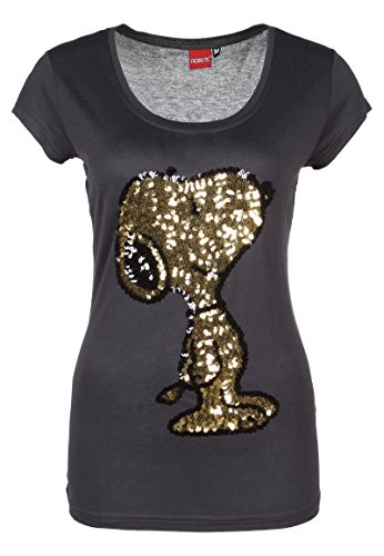 Sublevel Damen D1286Z01439A T-Shirt, Grau (Dark Grey 23400), 36 (Herstellergröße: S)