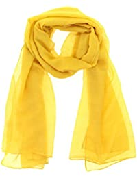 Amazon.fr   Echarpe Jaune Moutarde - Foulards   Echarpes et foulards ... e42f958a5d6