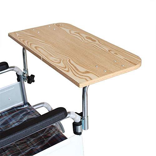 JFJL Rollstuhl Tablett,Hölzern Rollstuhl Runde Tablett,Rollstuhl-Tisch Für die meisten Standardrollstühle geeignet,Größe: 57 * 30 cm -