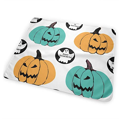 Cut U0026 Sew #tealpumpkinproject Decorations, Halloween Teal Pumpkin Project Awareness Washable Incontinence Pad Baby Changing Pad Pet Mat Large Size 25.5 x 31.5 inch (65x80 cm) (Project X Halloween)