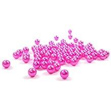 Sparpack 1000 hochwertige nachgebildete lose Perlen Perle Dekoperlen Kunststoffperlen ohne Loch 5mm pink rosa