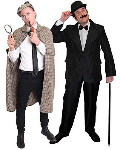 Shelock Holmes and Watson Fancy Dress Costumes for Couple