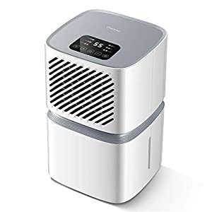 iTvanila Dehumidifier, 12L/Day Air Dehumidifier for Home with Wi-Fi Control, LED Display with Auto Off Sensor, Laundry Drying, Continuous Drainage with Hose, 2 Year Warranty