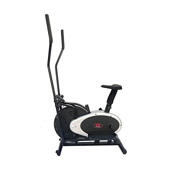 V X FITNESS Multi Orbitrek 4-in-1 Elliptical Cardio Workout Exercise Dual Action Fitness Cross Trainer Bike with Seat (Multicolour)