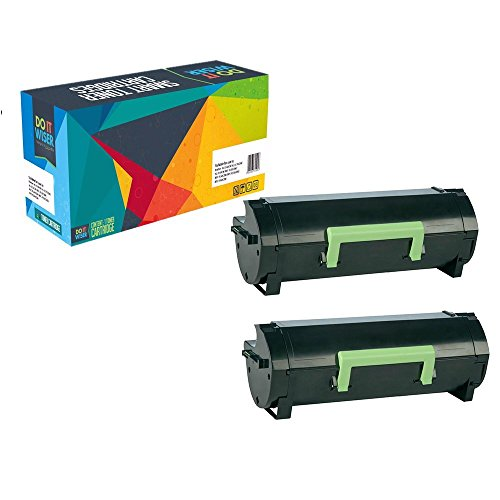 Top Do it Wiser ® Compatible 2-Pack Toner Cartridges (5,000 pages) for Lexmark MS310 MS312 MS410 MS415 MS510 MS610 – 50F1H00