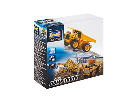 RC Auto kaufen Baufahrzeug Bild 2: Revell Control 23495 RC Baufahrzeug Kipplaster ferngesteuertes Auto, gelb-orange, Länge: ca. 10 cm*
