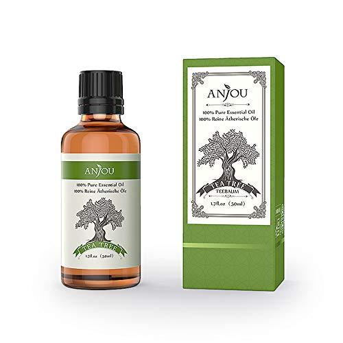 Anjou Ätherisches Teebaumöl, 100% Reines Aromatherapie Ätherisches Öl für Diffuser, Massage, Spa, Haut & Haar Pflege, 50 ml