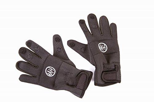 Matt Hayes Adventure–Paar schwarz Split, weiches Neopren Handschuhe mit Klettverschluss Fastners–Speziell für Angeln, Medium/Groß [99–2391250] (Neopren-angeln-handschuh)