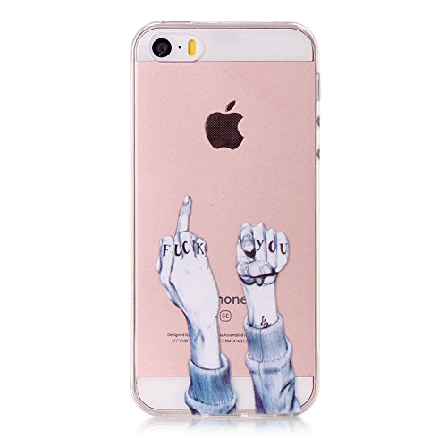iPhone 5S Hülle,iPhone SE Hülle TPU Case Schutzhülle Silikon Case,3D Kreative Ultra Slim Soft Licht Klar Transparent Silikon Gel Gomma TPU Hülle Case für iPhone 5S/SE/5,Cool 3D Romantik Flower Animal Cartoon TPU Silikon Schutz Handy Hülle Case Tasche Etui Bumper für Apple iPhone 5S/SE/5 (Iphone 5s Fall Cool)