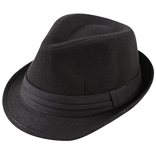 9540fbce22e9e Leisial Invierno Sombrero de Jazz Algodón de ala Ancha Moda Color Sólido  Gorro de Otoño para