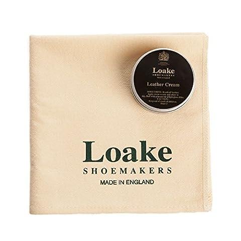 Loake Crème Verni and Loake Premium Nettoyage and Lingette De Polissage - Noir, M, -