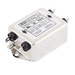 Sourcingmap® Cw4l2-t 10a Einphasig Lärm Lautstärke Stromleitung Emi Filter Ac 115250v 10a