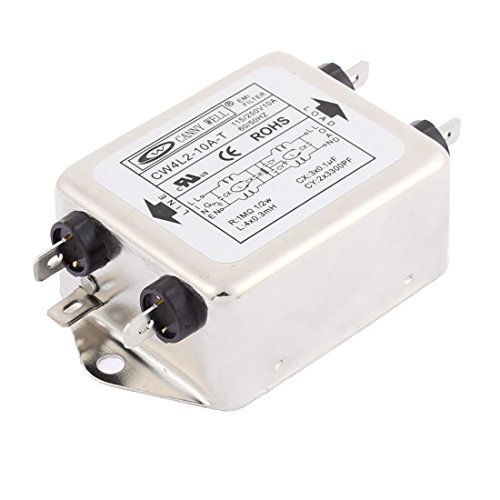 Sourcingmap® CW4L2-t 10A einphasig Lärm Lautstärke Stromleitung EMI Filter AC 115/250V 10A de