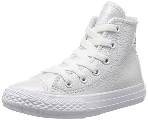 High-tops Converse Weiß Mädchen (Converse Unisex-Kinder CTAS Hi White Hohe Sneaker, Weiß (White), 34 EU)