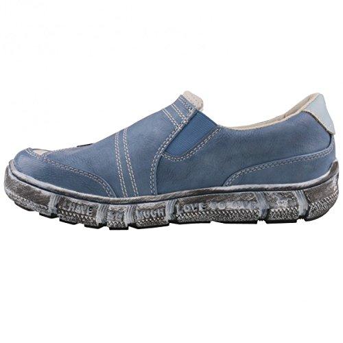 Mustang 1110-402 Schuhe Damen Slipper Halbschuhe Sneaker Blau