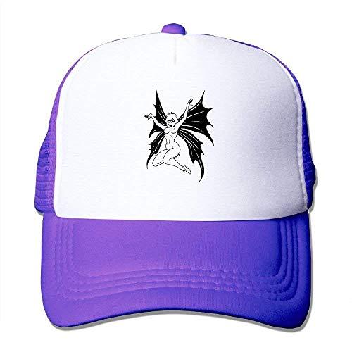 ASKYE Summer Flexfit Trucker Mesh Cap, Devil Adjustable Hats Sports Baseball Caps Cute Devil Girl