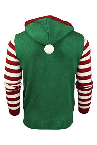 Herren WeihnachtsXmas Pullover von Seasons Greetings (Elf Suit – Christmas Green) XL