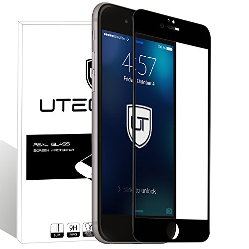 iPhone 6 / 6s Full Screen Panzerglas Schutzfolie 9H ** Deckt das gesamte Display ab ** Perfekte Passgenauigkeit - Kein Zerkratzen ** Glasfolie 3D by UTECTION® - Set Screen 6 Protector Iphone