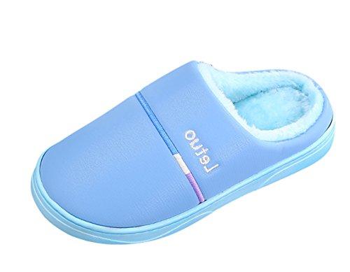 Donne Pantofole Uomini Insun Pantofole Pistoni E Pantofole Blu Felpa Piani qatP8Z