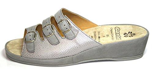 Ganter Carla 52 280 35 Damen Schuhe Pantoletten, Weite F Grau (titan)