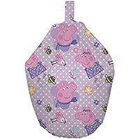 Preisvergleich für Peppa Pig Kinder Polka Dot Design Maschinenwaschbar Sitzsack, Stoff, pink, 52x 38x 52cm