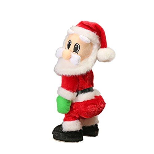 Yeahibaby la figura di babbo natale di natale ha torto l'anca twerking che canta i giocattoli elettrici per le decorazioni di natale dei bambini regali divertenti di natale