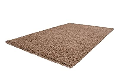 Soft Shaggy Beige Modern Thick Rug 8 Sizes Available produced by Lord of Rugs - quick delivery from UK.