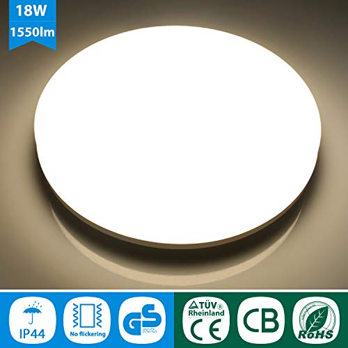 Oeegoo 18w Ip44 Led Plafoniera Lampada Da Soffitto Led Rotonda