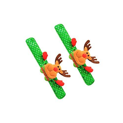 blinkenden Handgelenk-Band-Spielzeug Jungen-Mädchen-Flash-Uhr-Spielzeug-Party Weihnachtsdekoration leuchtende Glut Armband Geschenke Birthday Party Supplies Spielzeug -Elk ()