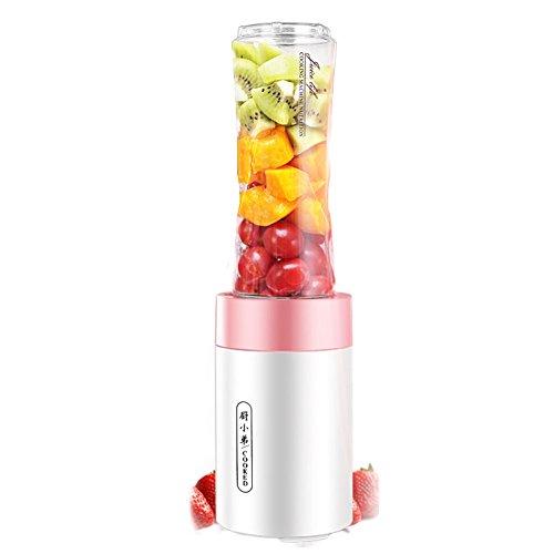 Dulplay smoothie maker,personale blender frullato di frutta elettrico (20,000 giri min) per frullati centrifugati abs portatile bpa libero 2 tritan bottiglia sport-a 35.5x9.5x9.5cm(14x4x4inch)