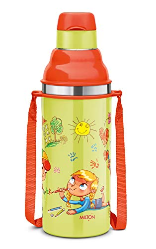 Milton Kool Stunner 400 Insulated School Kids Bottle with Inner Steel, 420 ml, Green