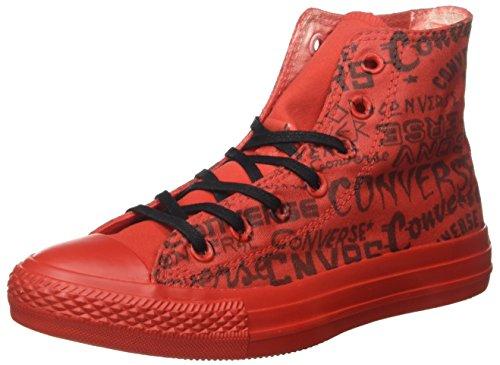 Converse - All Star Hi Canvas Ltd, Sneaker alte Unisex – Adulto Rosso