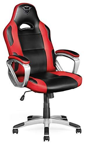 Trust GXT 705 Ryon - Silla para Gaming, Color Negro y Rojo