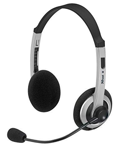Trust ComfortFit - Auriculares de diadema abiertos con micrófono