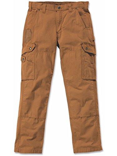 Carhartt Nouveau Pantalon Cargo 100% coton armé Ripstop avec renforts Cordura Nouvelle Coupe - Black - B342 Cotton Ripstop Pant Marron - Marron