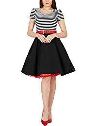 BlackButterfly 'Maria' vestido de rayas vintage pin-up