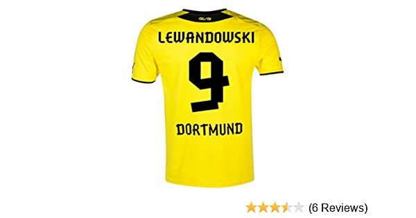 1dbbf4507 Puma BVB Borussia Dortmund Kids Home Trikot (743563-01), Lewandowski 9, XL:  Amazon.co.uk: Sports & Outdoors
