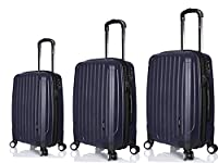 Luggage X - Set of 3 Lightweight Hard Shell Trolley Suitcases 28
