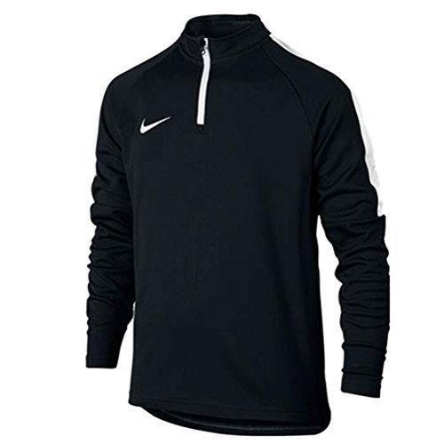 Nike Kinder 839358-010 Dry Akademy Dril Sweatshirt , schwarz (Black/White), XL (Sweatshirt Tennis-mädchen)