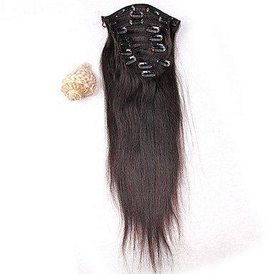 GANTA @ heißen Verkauf peruanisches Haarspange in Verlängerung Menschenhaar Webart Verlängerung seidige gerades 8pcs / set 100g Verlängerung , 20 inch