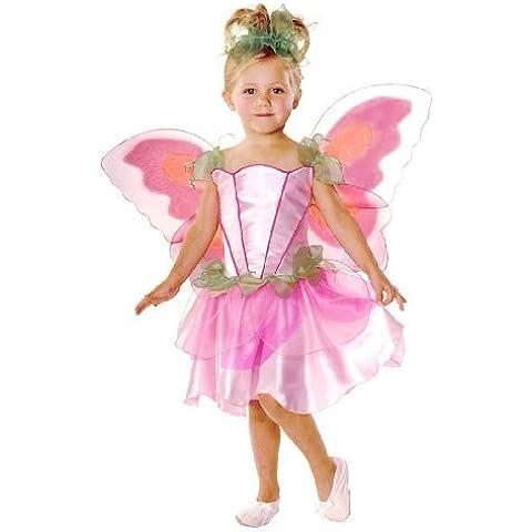 Mädchen Kostüm Fee Rosa Prinzessen Flügel Kopfschmuck