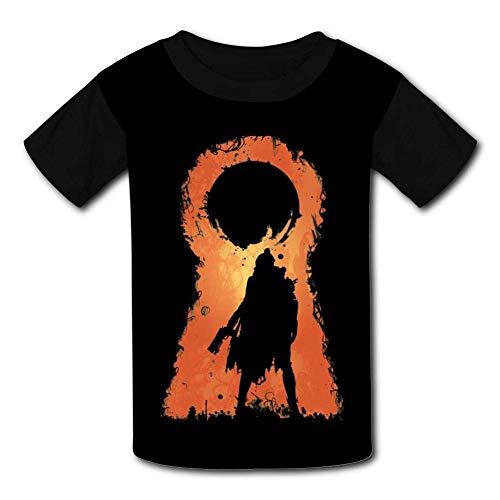 Kmehsv Schwarze Jugend Raglan T-Shirts, Destiny Short Sleeve Sports Sweat Tee for Teen Kids Boys Girls -