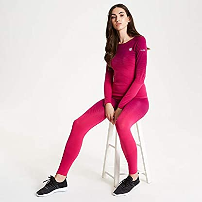 Dare 2b Women's In the Zone Perfomance Fast Wicking and Quick Drying Anti-bacterial Odour Controlling Base Layer Set With Seamless Technology and Ergonomic Body Map Fit 5