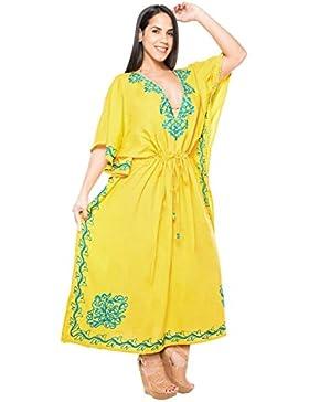 La Leela Designer lunga spiaggia abito da sera rayon costume da bagno bikini delle donne coprire kaftan