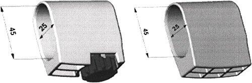 Mwh Fusskappe 25X45 mm weiss 4er