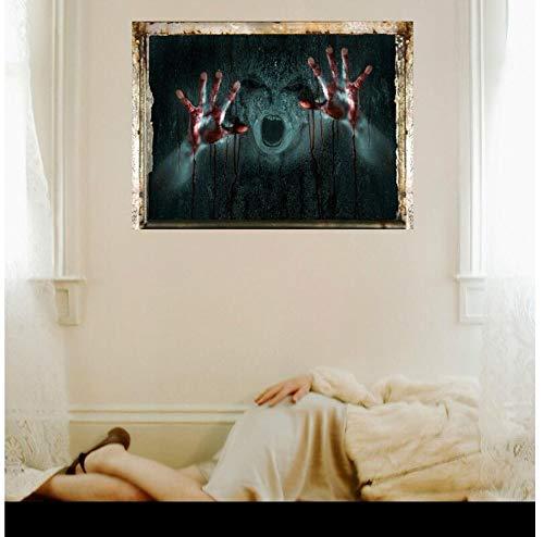 Halloween 3D Wandaufkleber Horror Room Home Decoration Vampire Devil Poster Bar KTV Tapete PVC ()