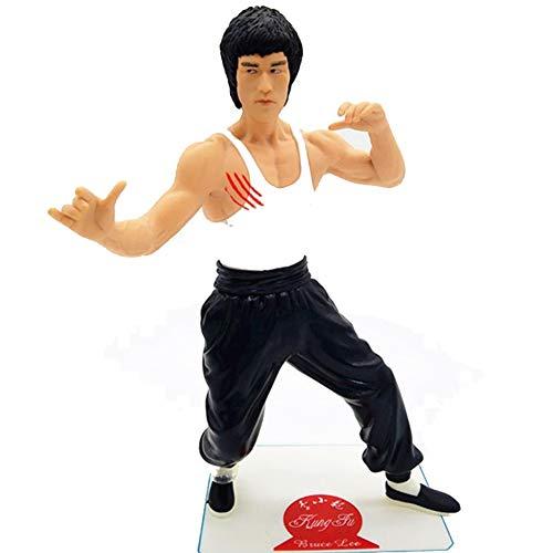 SONGDP Anime Charakter Chinese Kung Fu Promoter Bruce Lee Modell Spielzeugauto Dekoration Bruce Lee Charakter Modell 20cm Anime Anzug