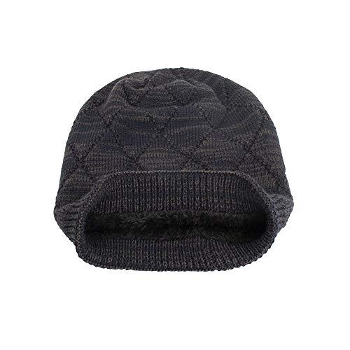 Wanshop ® Winter Strickmütze,Wintermütze warm gefütterte Mütze Beanie Wintermütze Flechtmuster Beanie Strickmütze (Navy) -